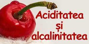 Aciditatea si alcalinitatea