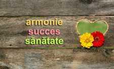 Sugestii benefice pentru armonie, succes si sanatate