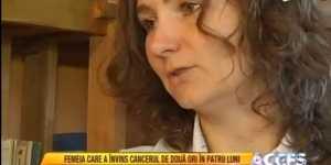 S-a vindecat de cancer la colon si de leucemie! Este mama a patru copii si este o invingatoare!