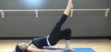 Pilates  - Exercitii pentru fese si coapse