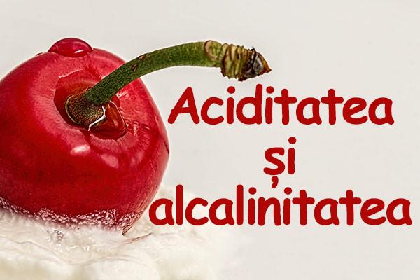 aciditate alcalinitate