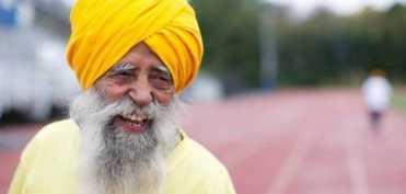 Fauja Singh, cel mai batran alergator de maraton din lume